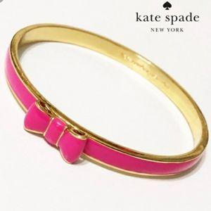NWT Kate Spade Take a Bow - Pink Bangle Bracelet